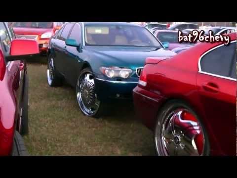 "2 Candy Painted BMW 745's on 28"" DUB Spinner Rims - 1080p HD"