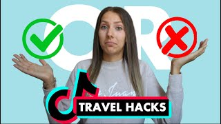 REAL or FAKE? | Testing 5 VIRAL TikTok Travel Hacks to See If They Work | Hotel and Flight Hacks