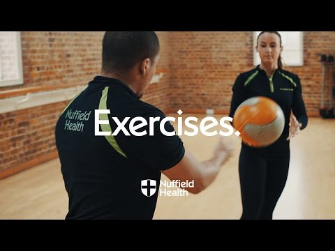 Medicine Ball Standing Twist (with partner)
