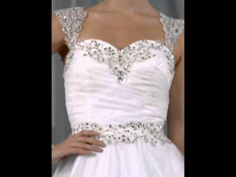 Charming Beading Straps Sweetheart Ball Gown Court Train Wedding Dress