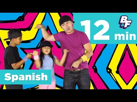 Spanish Greetings, Friends & Family Vocabulary Compilation   BASHO & FRIENDS Learning Songs   12 Min