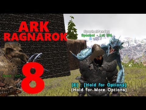 8] Hatching Baby Ice Wyverns! (Ark Ragnarok) - смотреть