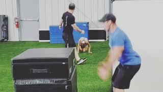 Box jump to broad jump