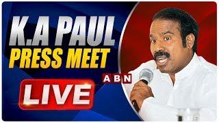 KA Paul LIVE | Press Meet In Hyderabad | ABN LIVE