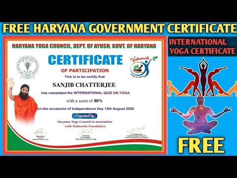 Yoga Certificate | International Yoga Certificate | Free Online ...