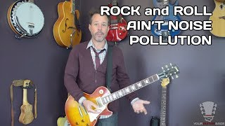 How to Play Rock and Roll Ain't Noise Pollution AC/DC - Guitar Lesson