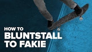 Смотреть онлайн Обучение трюку bluntstall to fakie на скейте