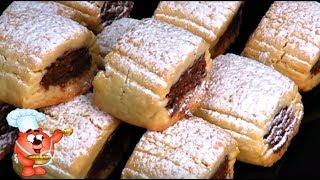 Печенье песочное с шоколадной начинкой-простой рецепт