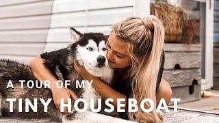 My Tiny Pontoon Houseboat Walkthrough Tour!