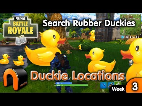 SEARCH RUBBER DUCKIES - Fortnite Duck Locations