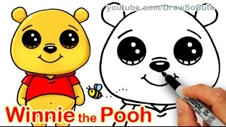 How To Draw Disney Winnie The Pooh Bear Cute And Easy
