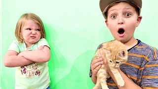 SNEAKING in to get a BABY KITTEN FAIL!