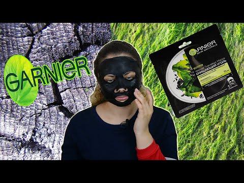 """Отзывы Черная тканевая маска для кожи с расширенными порами """"Очищающий Уголь + Черные водоросли"""" Garnier Skin Naturals Face Mask"""