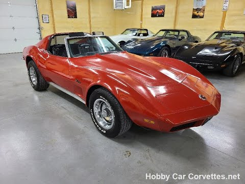 1973 Red Corvette Black Interior For Sale Video
