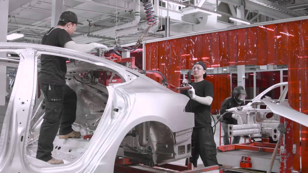 Take A 90-Second Tour Around Tesla's Model S Factory