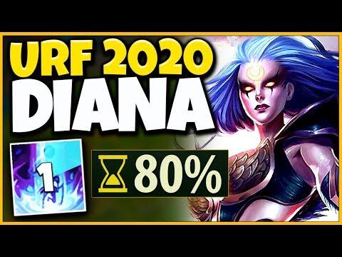 *DIANA REWORK* WORLDS FIRST URF 2020 GAMEPLAY (NEW DRAGONS) - League of Legends