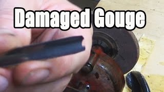 Sharpening A Damaged Wood Carving Gouge