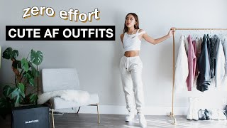 CUTE LAZY & COMFY OUTFITS | Zero Effort Outfit Ideas