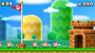 New Super Mario Bros. 2 - 100% Walkthrough - Intro & World 1 (All Star Coins & Secret Exits)