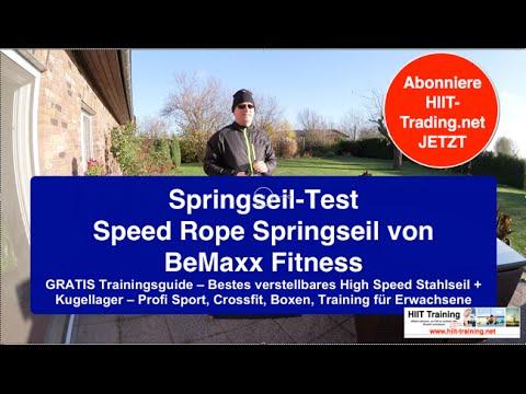 ⭐️ Springseil Test Speed Rope Springseil von BeMaxx Fitness ⭐️