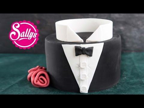Bräutigam-Motivtorte / Smoking / Bachelor Cake / How to / Sallys Welt