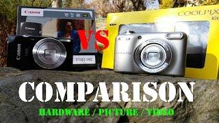 Canon Ixus 145 vs Nikon Coolpix L29 Comparison [Super HD View]