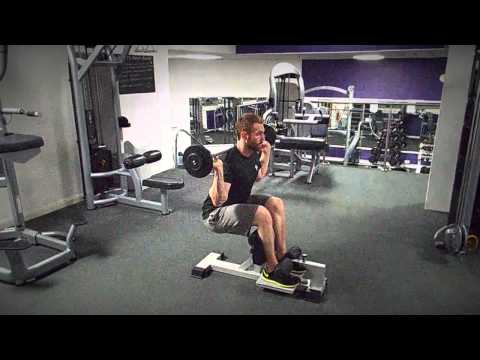 Weighted Sissy Squats