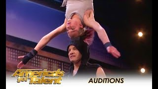 Sergey & Sasha: Father Daughter EXTREME Danger Acrobatic Duo! WOW! | America's Got Talent 2018