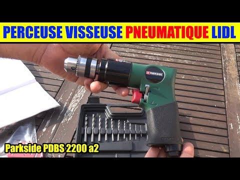 perceuse visseuse pneumatique lidl parkside air comprime pneumatic drill druckluft-bohrschrauber