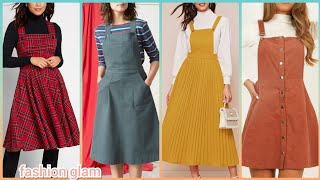 Vintage Style Casual Knee Length Midi Skirt Pinafore Dresses For Womens/linen Apron Dress