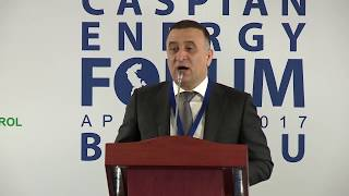 Aydin Talibov - 4-th Caspian Energy Forum - Baku 2017