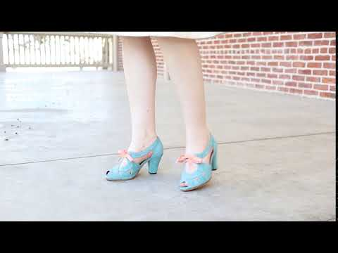 Cora 1940s Sandals (Teal)