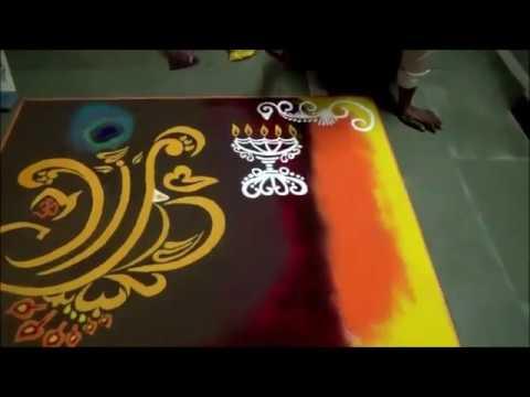 beautiful ganesh chathurthi festival rangoli design by kshame bade