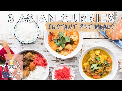 3 INSTANT POT ASIAN CURRIES 🍵  for #BuzyBeez