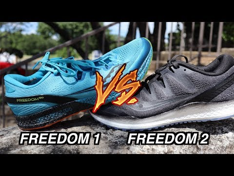SAUCONY FREEDOM 2 VS FREEDOM 1 + FIRST IMPRESSIONS Review