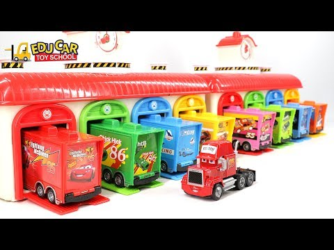 Learning Color Numbers With Special Disney Pixar Cars Lightning McQueen Mack Truck for kids car toys