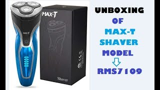Unboxing of Max T Shaver (Model-RMS7109)
