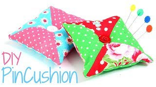 Patchwork Pin Cushion Pattern - DIY Pincushion Made Simple