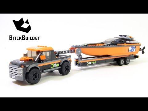 Vidéo LEGO City 60085 : Le 4x4 avec hors-bord