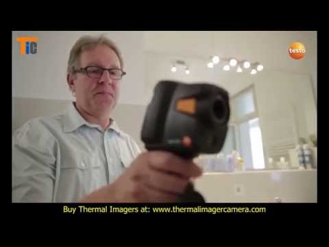 Thermography in heating construction with the thermal imager testo 870