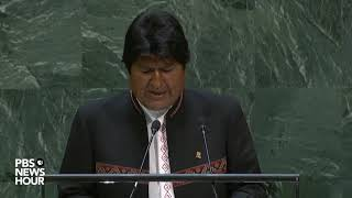 WATCH: Bolivia President Evo Morales Ayma's full speech to the UN General Assembly