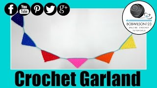 Granny Stitch Garland / Bunting Crochet Tutorial