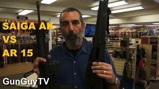 Saiga AK Vs AR15 Accuracy Test Part 1