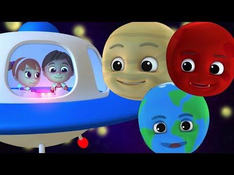 anak-anak planet lagu |  Belajar tata surya | Lagu pembibitan | Rhymes For Kids | Planet Song
