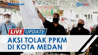 Omzet Turun Hingga 70 Persen, Pedagang Kuliner Malam di Kota Medan Protes & Kibarkan Bendera Putih