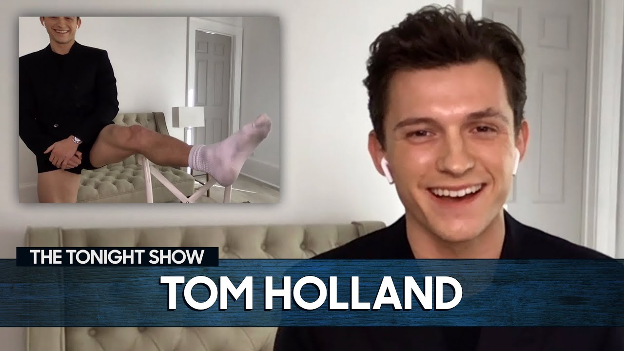 Tom Holland Shows Off His Viral Pants-less Look for Virtual Interviews | The Tonight Show thumbnail