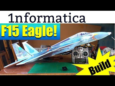 F15 Eagle 785mm Wingspan Foam Board RC Aircraft Kit Build