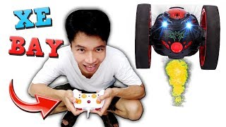 Tony | Thử Thách Chơi XE NHẢY CÓC Leo Cầu Thang - Play Bounce Car