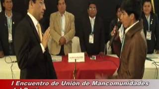 preview picture of video 'Primer encuentro de Unión de Mancomunidades del Perú'