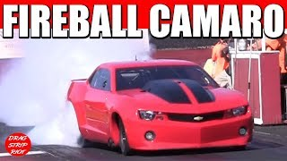 Street Outlaws Drag Racing Fireball Camaro Dragway of Magnolia 2017